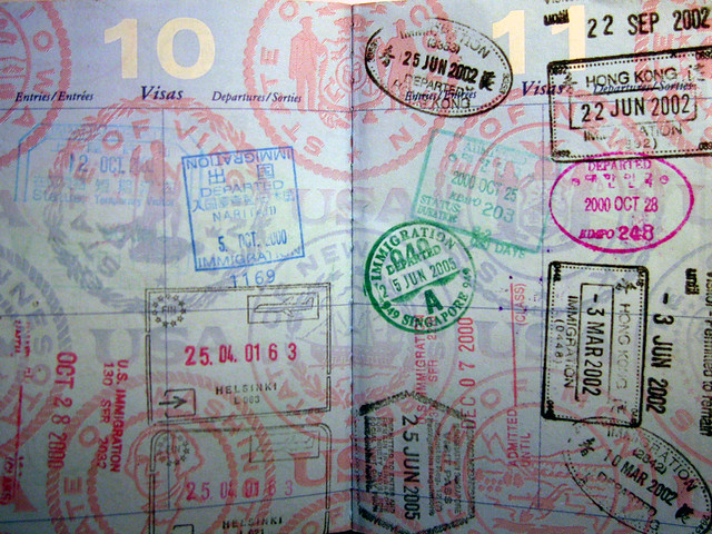 My collection of passport stamps | Time to renew the passpor