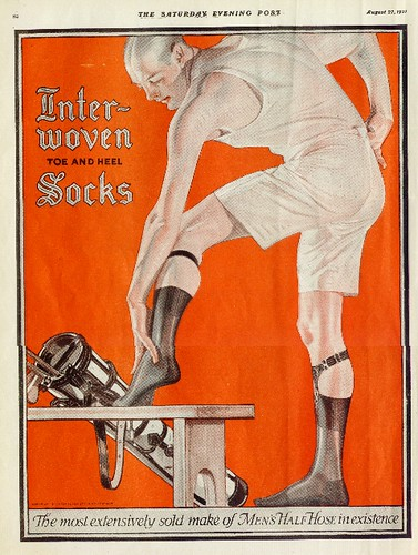 J.C. Leyendecker Interwoven Socks Ad