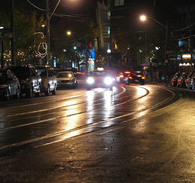 College St., Saturday night, rain (2)