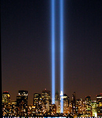 """NYC Twin Lights 9/11 """"Tribute in Lights""""  Memorial 2005   by Sister72"""