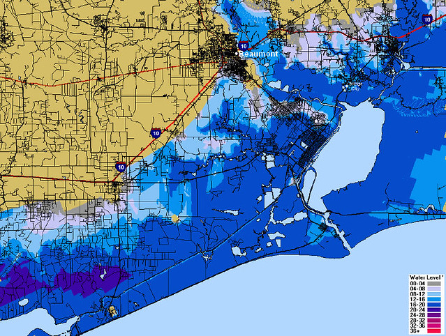 Map Of Beaumont Texas.Beaumont Texas Flood Prediction Map Cat 4 This Map Shows Flickr