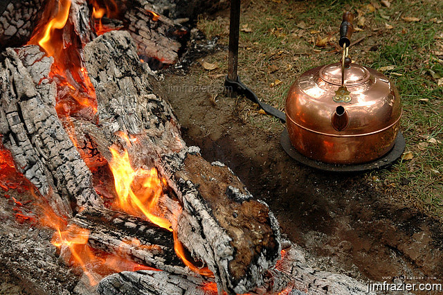 Copper Kettle and Fire