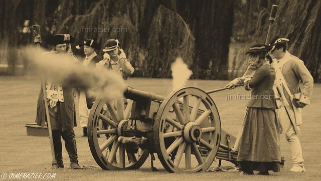 Rebels Firing Cannon - ca. 1776