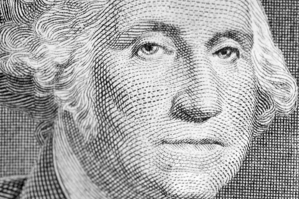 Лицо с долларовой банкноты