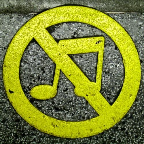 No music! [squared circle] | by Mr Wabu