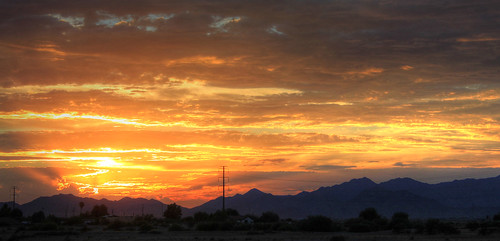 sunset arizona clouds powerlines monsoon whitetankmountains