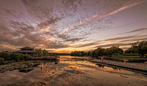 park sunset sky orange ontario canada reflection water by docks evening nikon waterfront hamilton conservation wideangle d800 bayfront bayfrontpark jimsmith jimfromcanada