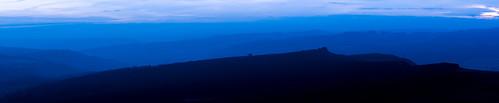 higgertor panorama peakdistrict bluehour overowlertor derbyshire december darkpeak tor derwentvalley evening layers