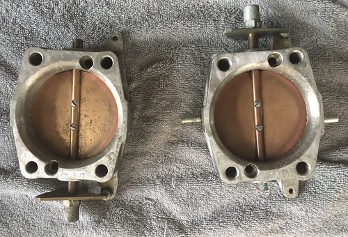 Halfway the cleaning process: big-bore throttle bodies   by PimGMX