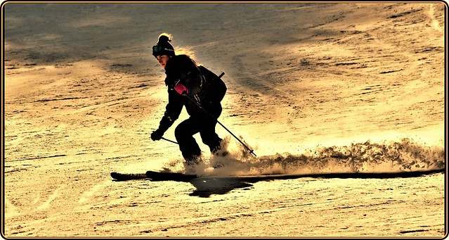 Skiing in the Carpathians mountains -2