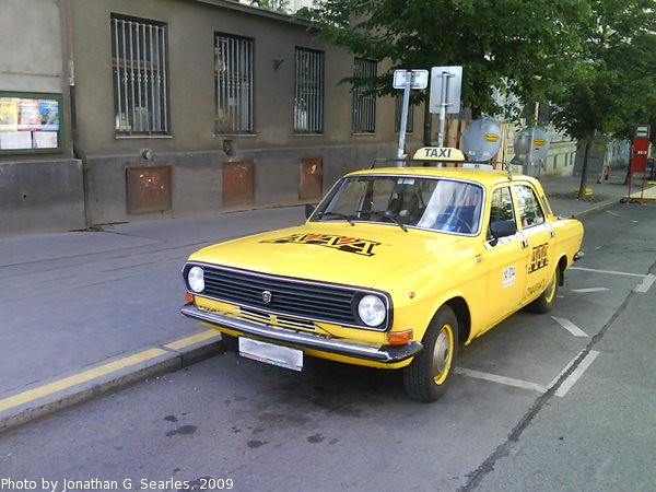 Volga Taxi in Hradcanska, Prague, CZ, 2009