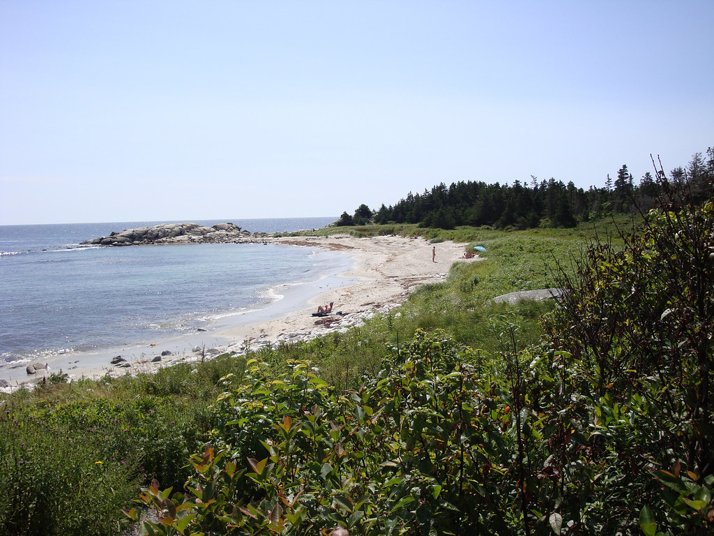 Crystal Crescent Beach In Halifax Stock Photo - Download