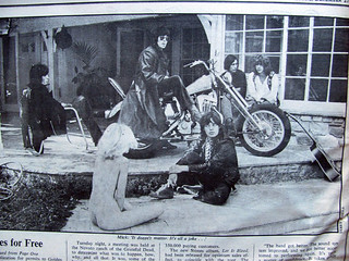 MICK JAGGER EYES A NAKED GROUPIE   Rolling Stone 1969