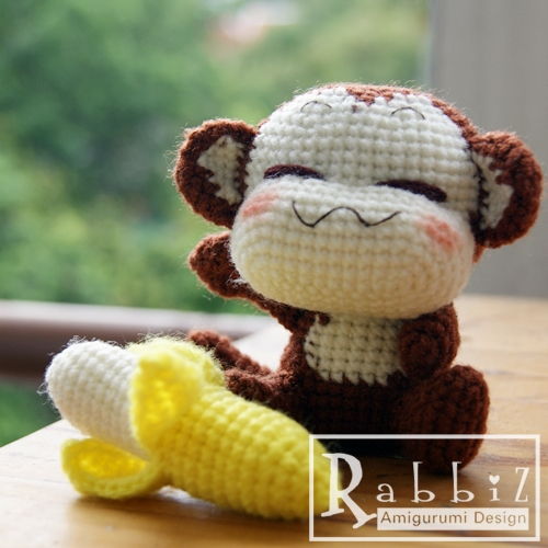 Amazon.com: Crochet Monkey, monkey plush, amigurumi monkey, monkey ... | 500x500