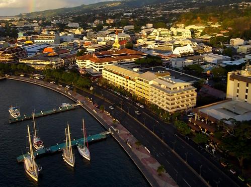 sunset downtown tahiti kap papeete frenchpolynesia autokap pierrelesage danleighr8delta ricohgx200 kapstock