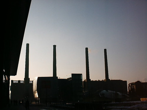 sunset sky industry vw germany volkswagen deutschland sonnenuntergang himmel powerplant kraftwerk wolfsburg chimneys schornsteine schlote jomaot