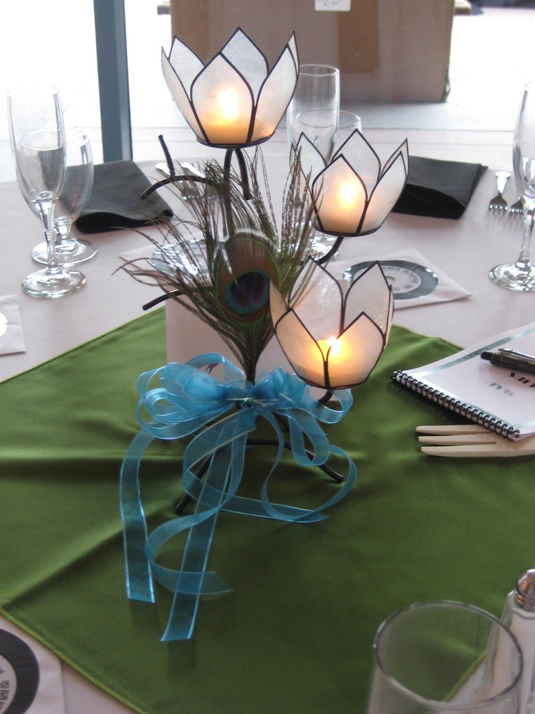 WEDDING CENTERPIECES WITH PEACOCK FEATHERS FOR A WEDDING O FLICKR