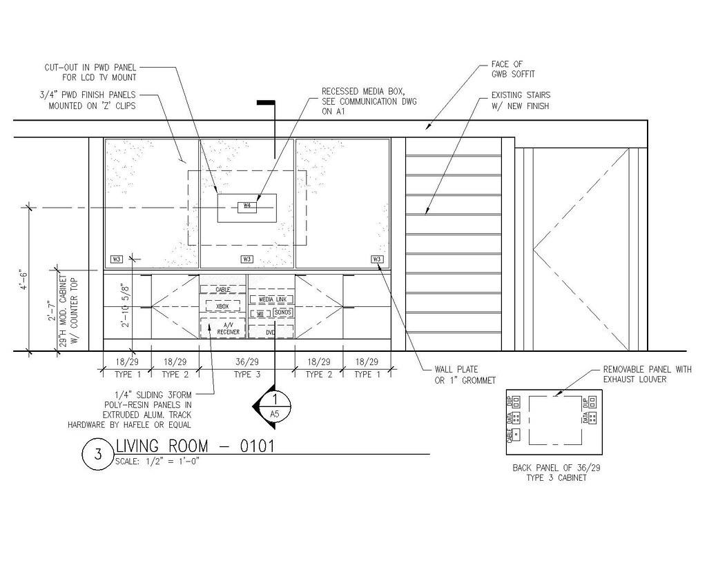 Interior elevation 3 by steelkilt