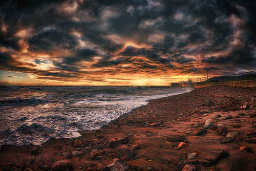 Stormy sunset in Helmsdale.   by Garian Photography
