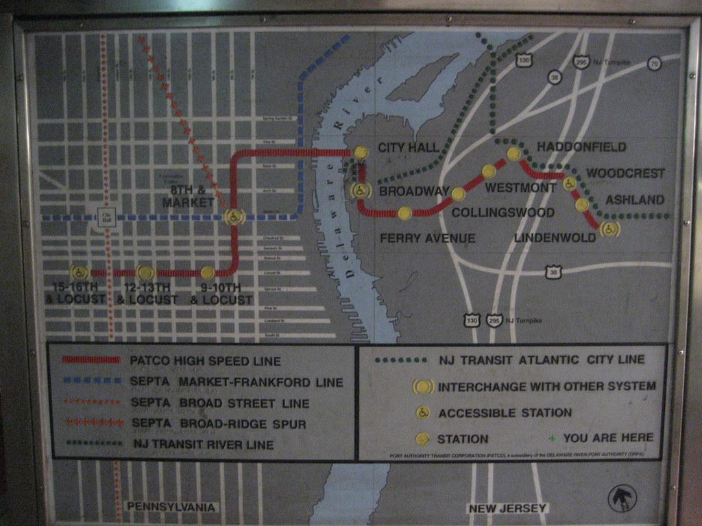 Philadelphia Subway Map Patco.Patco High Speed Line Map 2 Circa November 2009 Airbus777 Flickr