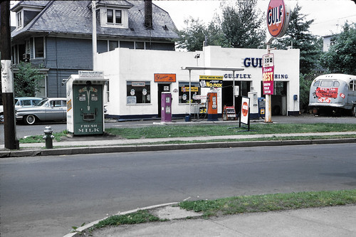 35mm newjersey gulf nj gasstation scanned kodachrome gasoline 1959 foundphotos otherpeoplesphotos otherpeoplespictures someoneelsesphoto minoltascandualiii gulfgasoline