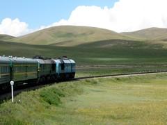 Trans-Mongolian Railway in the Mongolian plains | by mattermatters