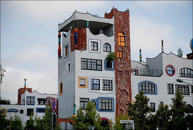 Luther Melanchton Gymnasium in Wittenberg by Hundertwasser 16