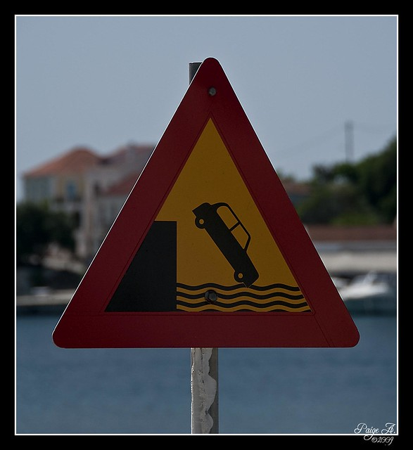 Watch for Cars Falling into the Water??