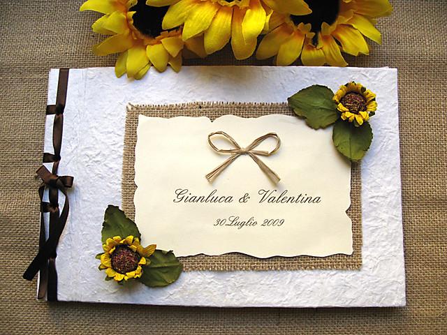 Guestbook Matrimonio Girasoli : Guestbook matrimonio girasoli officine creative spot cu flickr