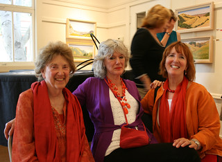 """Artists: Connie Smith Siegel, Sandy White, Gael Hunt at SGCC """"Art on the Farm""""   by cproppe"""