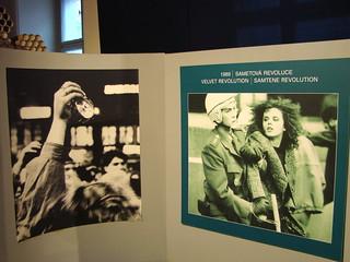 Images of Velvet Revolution 1989 - Museum of Communism - Prague, Czech Republic