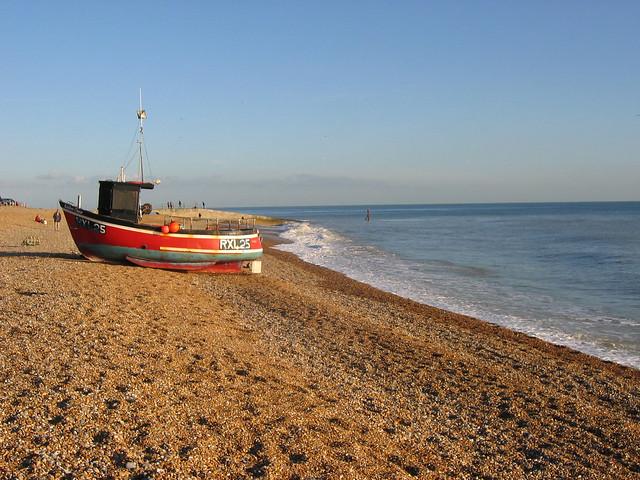Fishing boats on Hastings beach