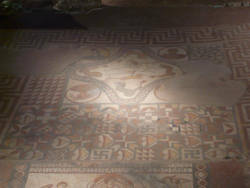 Bellerephon Killing the Chimera Mosaic, Lullingstone Roman Villa