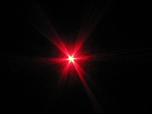 Red laser pointed at camera | by nayukim
