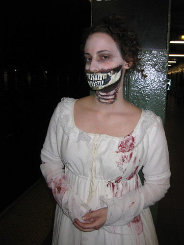 The best homemade halloween costume ever. Pride and Prejudice and Zombies!