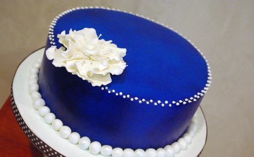 Denim & Pearls Birthday Cake | by wickedcakechick