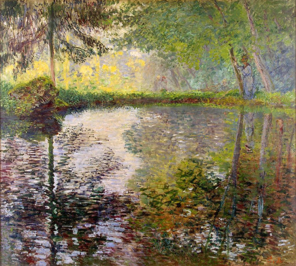 W 420 Claude Monet - Pond at Montgeron 1876 | Saint Petersbu… | Flickr