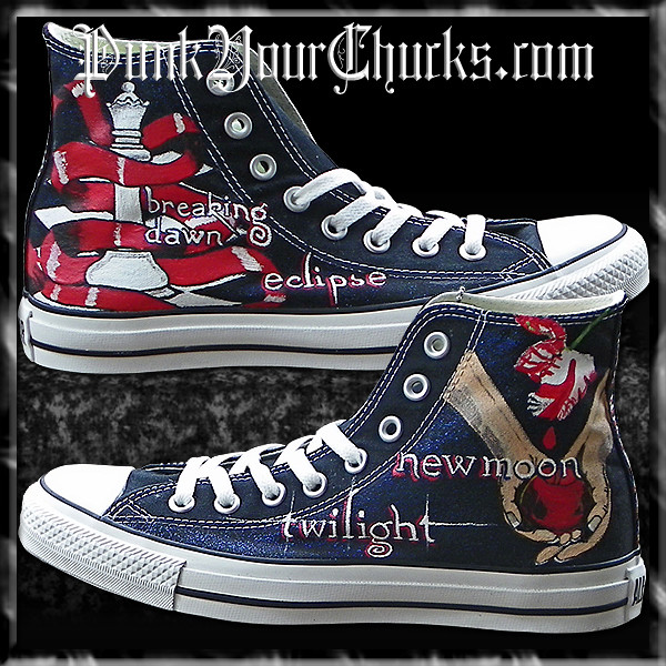 Twilight Converse | This design on Purple Converse features … | Flickr