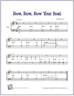 Row Row Row Your Boat Free Beginner Piano Sheet Music