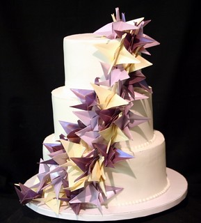 Origami Cranes Wedding Cake | by ABC Cake Shop and Bakery