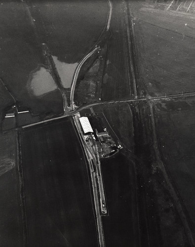 065752:An aerial photograph of Metro test track Backworth. Unknown 1975-1980