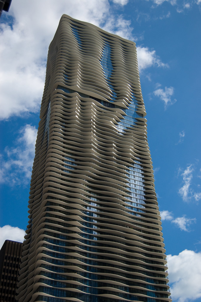 Chicago Wave Building Michael Colburn Flickr