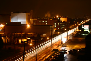 On Top of The Abandoned Mckornmickk's Candy Factory looking west on dundas (Kellog's)