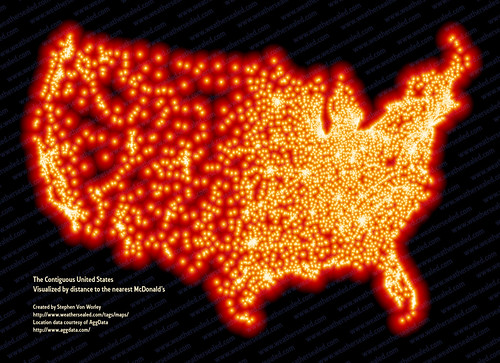 McDistance from a McDonalds, created by Stephen Von Worley at datapointed.net | by dullhunk