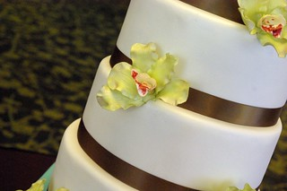 Sugar Orchid Wedding Cake | by wickedcakechick