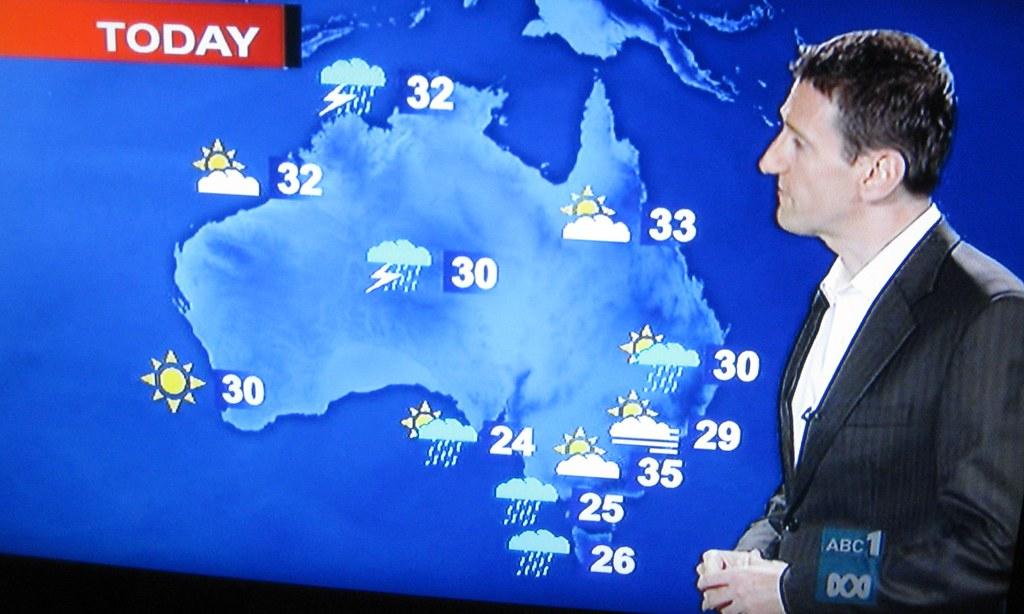 Présentateur météo en Australie