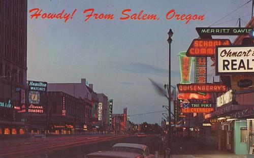 oregon vintage postcard salem libertystreet