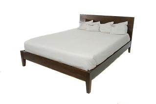 Simple Brown Platform Bed | by urbanwoods123