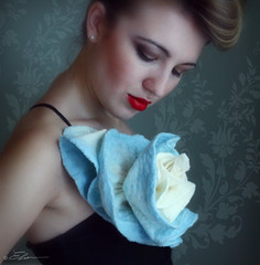 Blue Rose Brooch | by ElenaMakesThings
