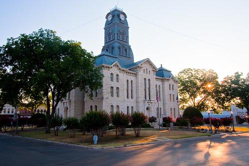 county sunrise texas hood courthouse granbury